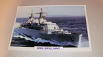 HMS Brilliant warship 1978  framed picture